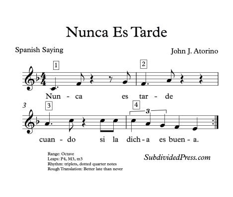 Spanish choral singing round