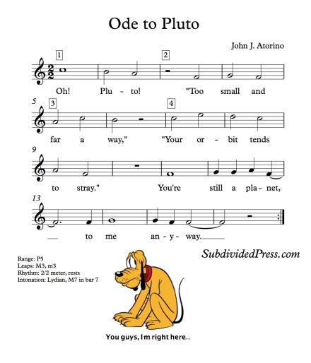 Pluto Singing Choral Round