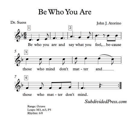 Dr Suess Choral Round for Teaching Singing Classroom Warm Ups