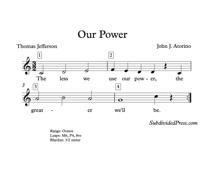 Thomas Jefferson Quote Music Singing Power Choir Round Choral