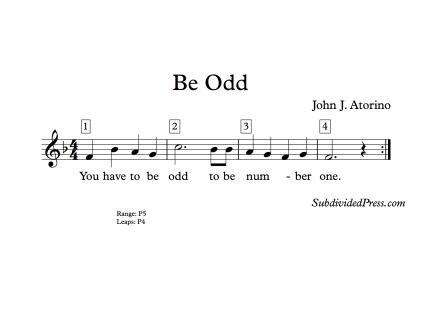 choir round singing music odd 4 bar four