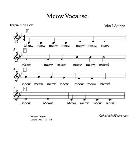 cat Singing Choral Round