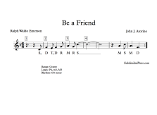 Be a Friend - Solfege