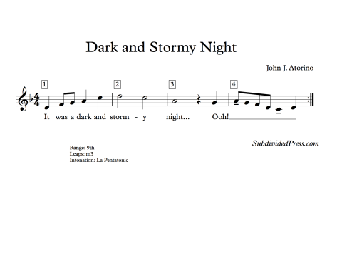 Halloween Pentatonic Choral Singing Round
