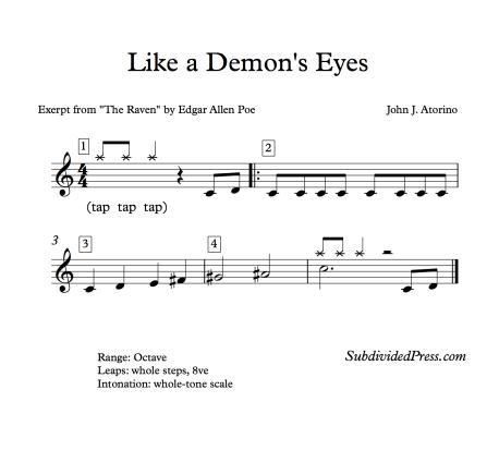 Like a Demon's Eyes - Blank