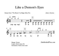 Like a Demon's Eyes - Solfa