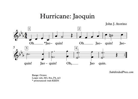 Hurricane Jaoquin Choral Round