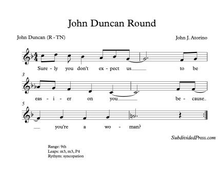 John Duncan Republican Round Women Choir Choral Singing
