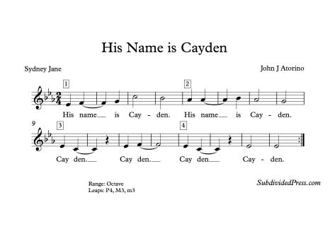 Cayden Choral Singing Choir Round