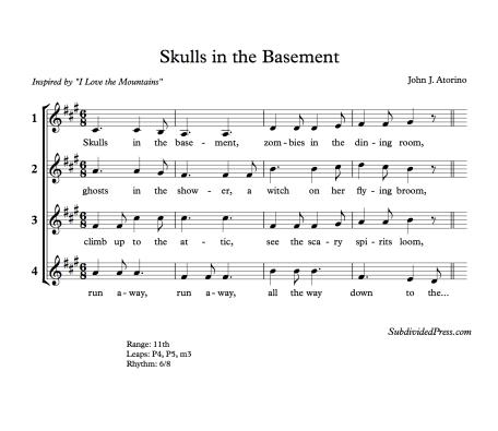 Halloween Choral Singing Choir Round