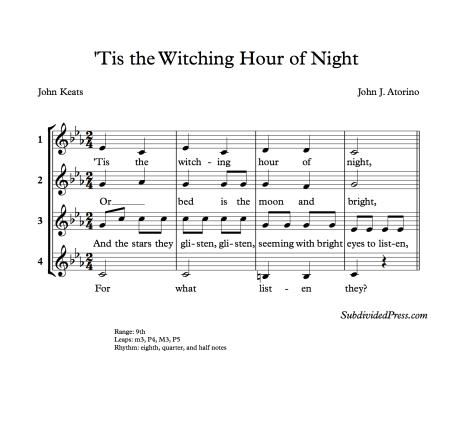 Halloween Choral Singing Music Round