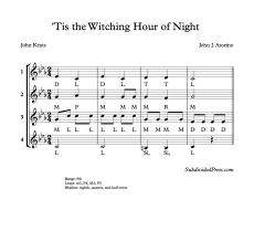 Solfege Round Choral Singing Music