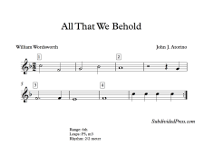 All That We Behold Blank
