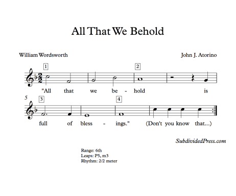 thanksgiving choral music singing round wordsworth