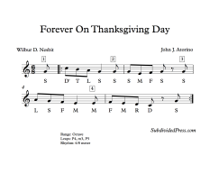 Forever On Thanksgiving Day Solfege