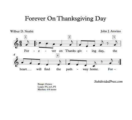Thanksgiving Song Round Singing Melody Music