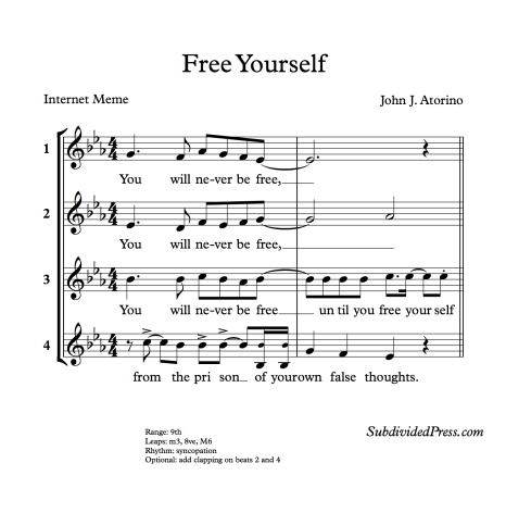 choral music singing round Atorino Free Yourself