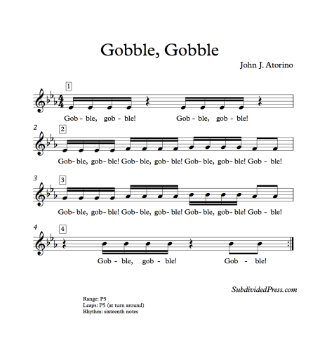 Thanksgiving Choral Singing Music Round