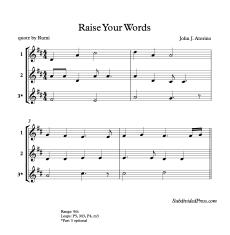Raise Your Words blank