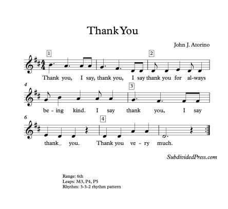 Thanksgiving choral music singing round