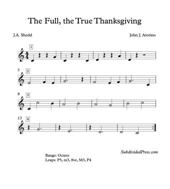 The Full The True Thanksgiving Blank