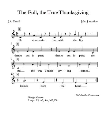 Thanksgiving Choral Music Singing Round Shedd
