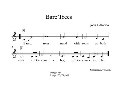 winter december choral music singing round