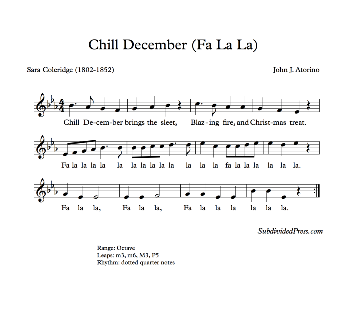 winter christmas choral music singing round