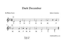 Dark December Solfege