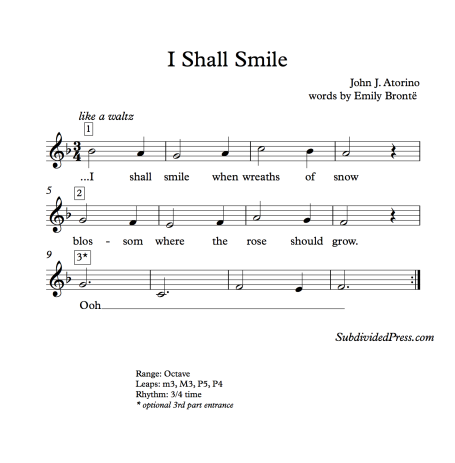 winter holiday snow choral music singing round