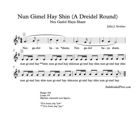jewish hanukkah dreidel music singing choral round