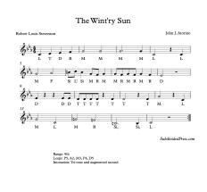 The Wintry Sun Solfege