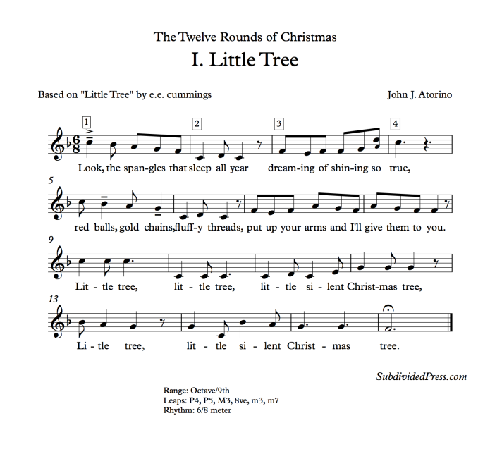 Christmas Winter Choral Music Singing Round