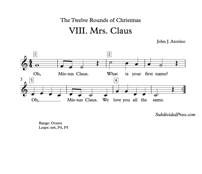 Mrs Claus Singing Choral Music Christmas WInter Round