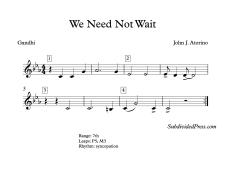 We Need Not Wait blank