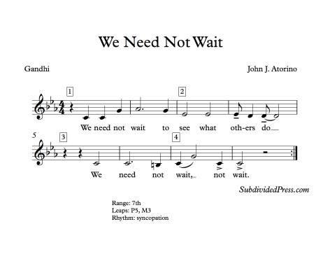 World AIDS Day Choral Music Singing Round Gandhi Quote