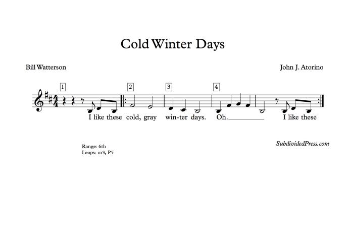 winter choral music singing round