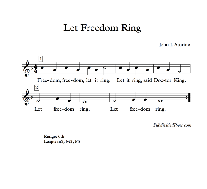 martin Luther king winter choral music singing freedom round