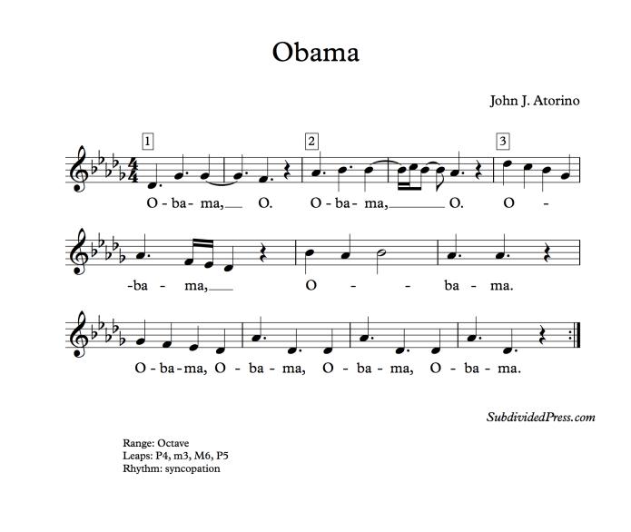 Obama choral music singing round