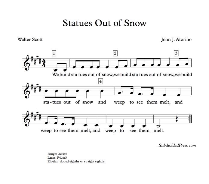 winter choral music singing round snow