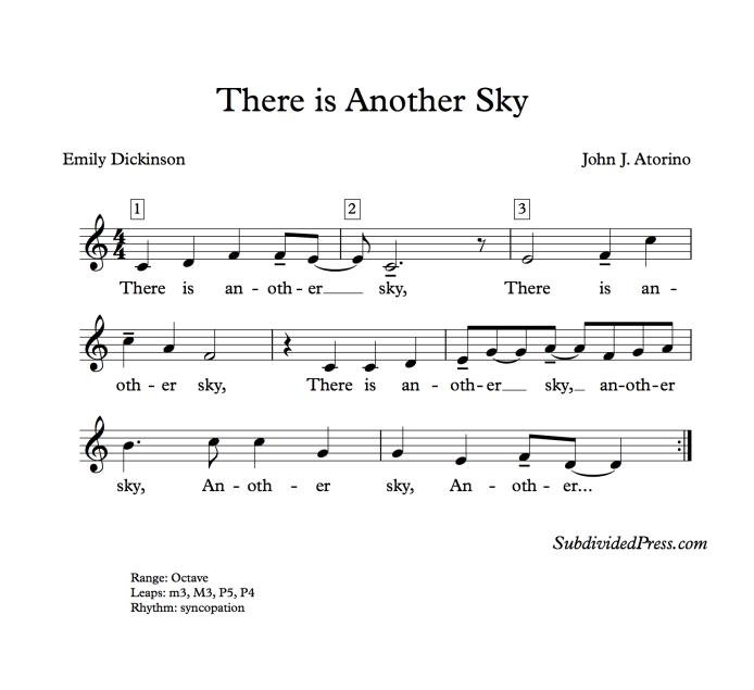 choral music singing round emily dickinson