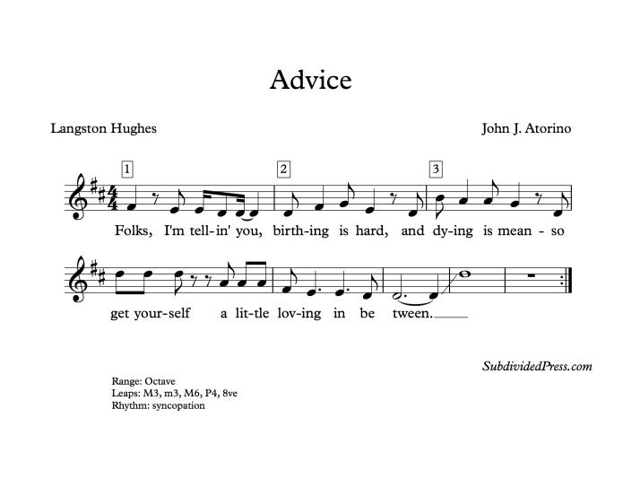 langston hughes choral music singing round