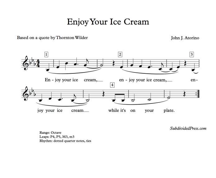 Enjoy Your Ice Cream