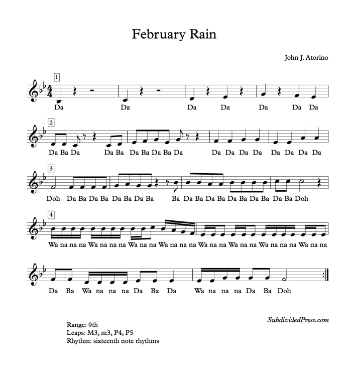 rain weather choral music singing round