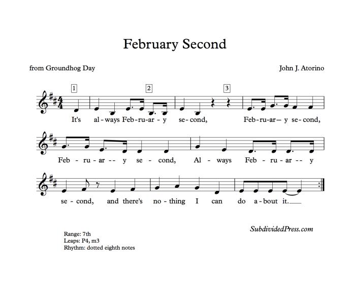 choral music singing round Groundhog Day