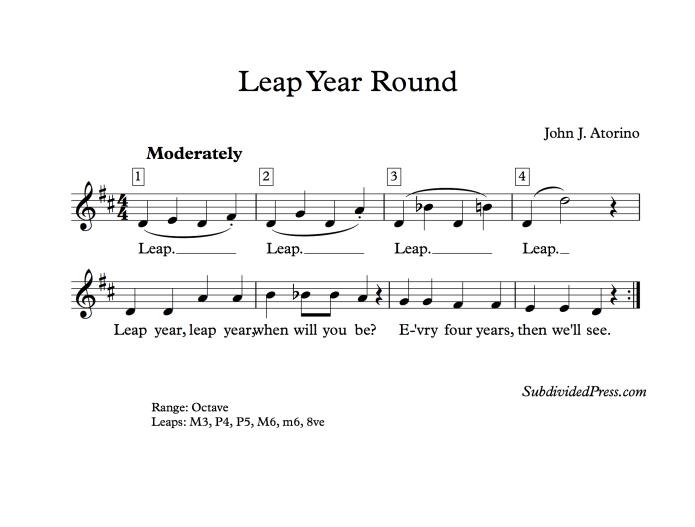 leap year choral music singing round