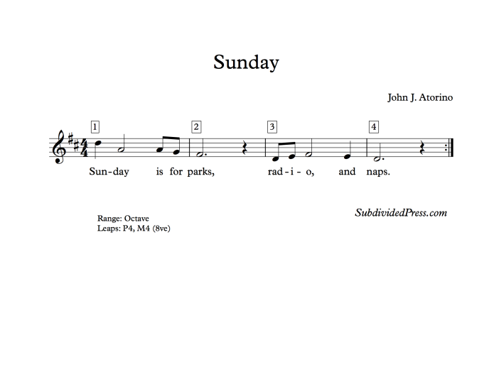 choral music singing round sunday
