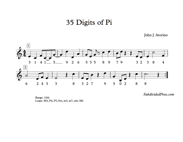 choral music singing round first 35 digits Pi song mnemonic device