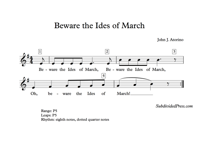 choral music singing round ides of march
