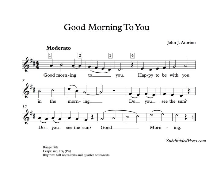 choral music singing round good morning